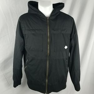 Altamont Black Insulated Hooded Jacket Size M